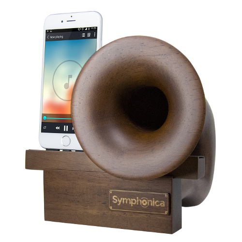 Symphonica Speaker with Dark Wood Stain Finish